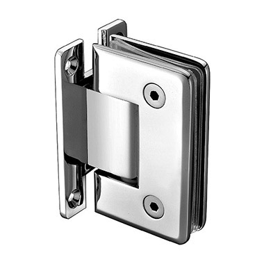 Wall mount H back plate beveled shower hinge