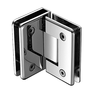 90 degree glass to glass beveled shower hinge