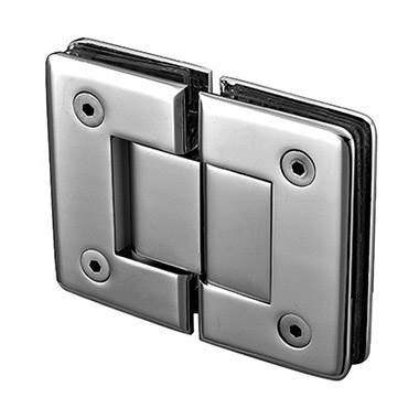 180 degree glass to glass beveled shower hinge