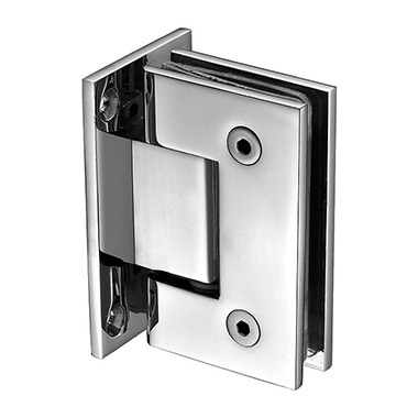 Wall mount full back plate square shower hinge