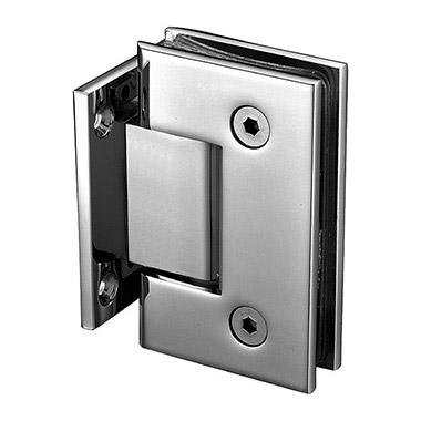 Wall mount short back plate square shower hinge