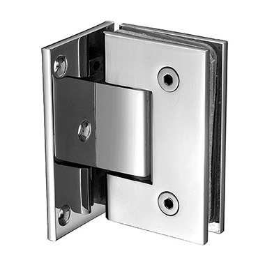 Wall mount offset square shower hinge