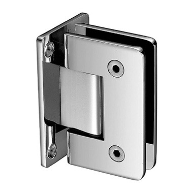 Wall mount full back plate round corner shower hinge