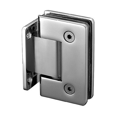 Wall mount short back plate round corner shower hinge